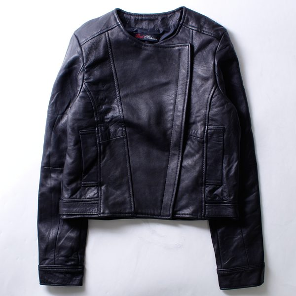 Women's Leather Jacket – No Collor